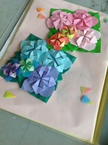 顧問の先生が考案した紫陽花